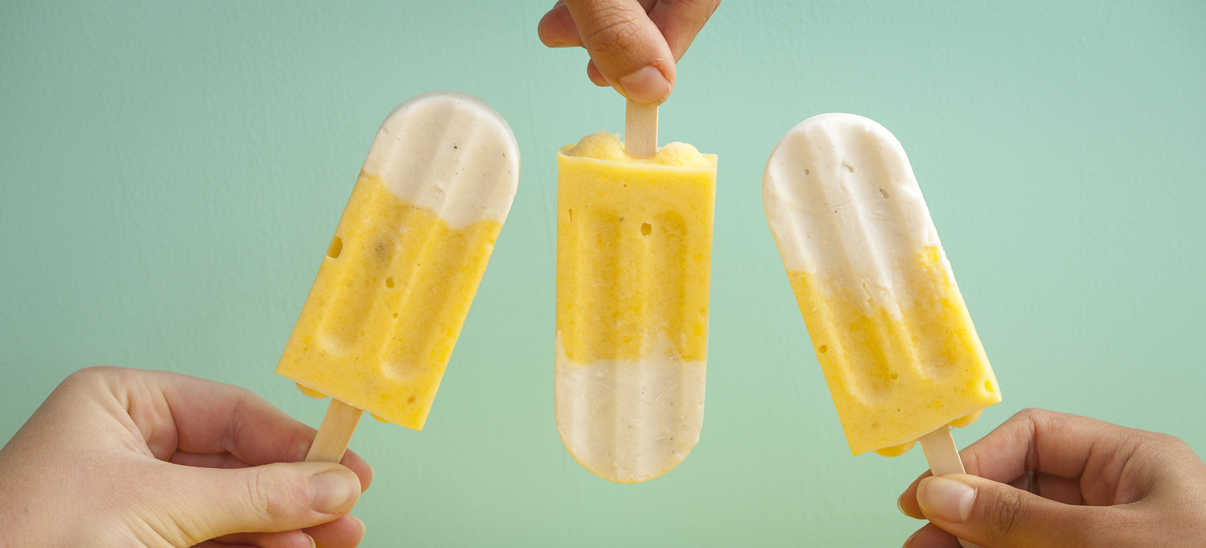 Mango and Coconut Popsicles